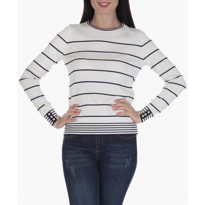 Image for Ecru and navy jumper