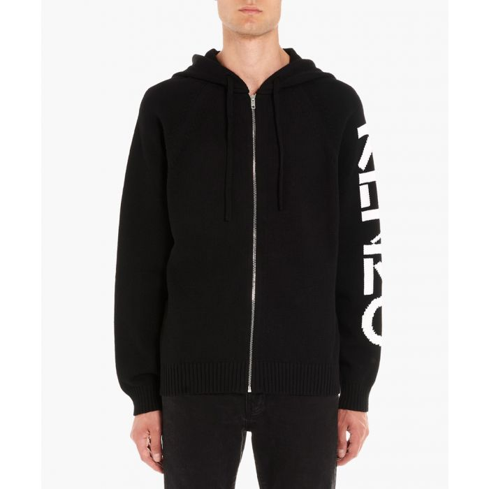 Image for Black zip-up cardigan