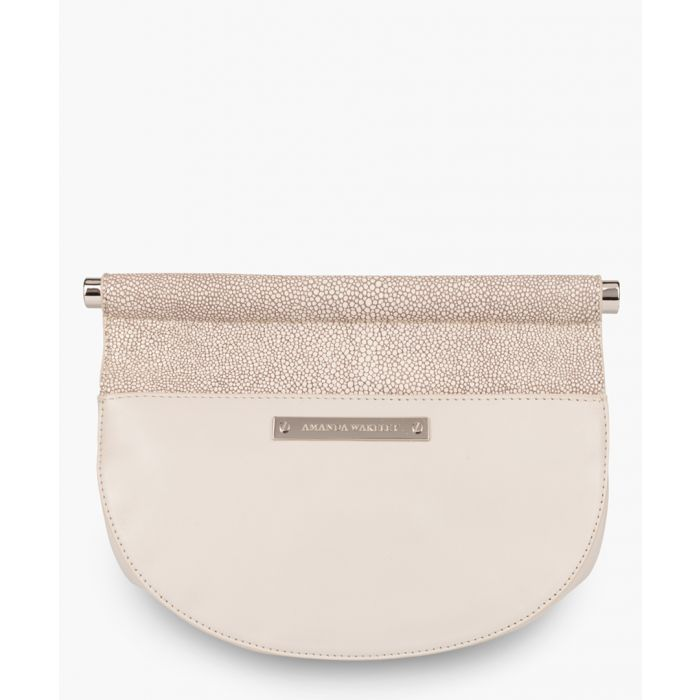 Image for Presley grey leather clutch