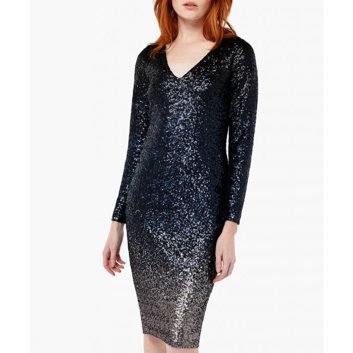Image for Heidi ombre sequin dress