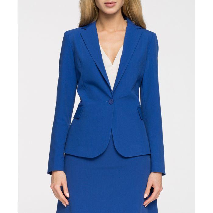Image for Royal blue single button blazer