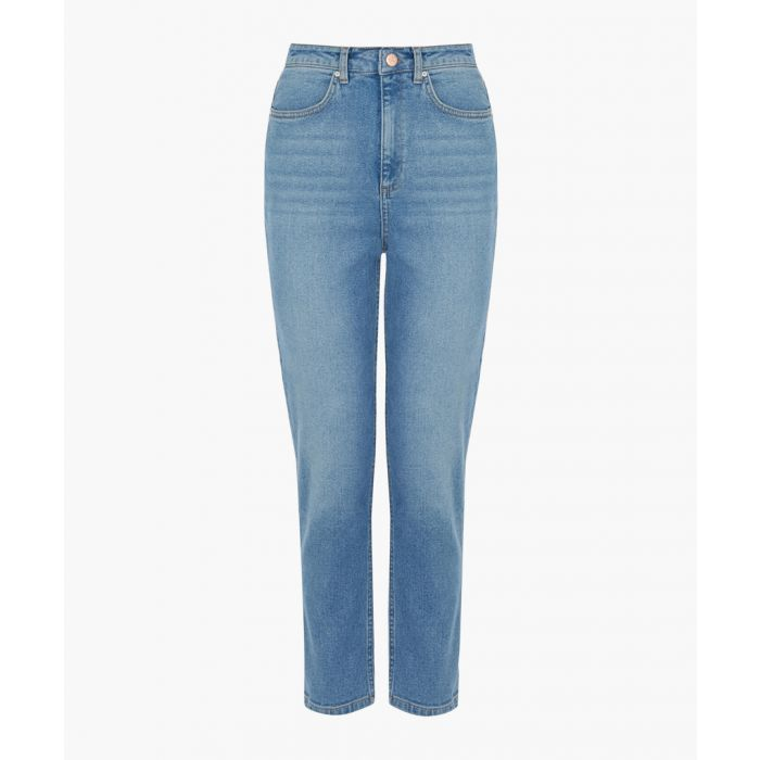 Image for Light wash slim-cut jeans
