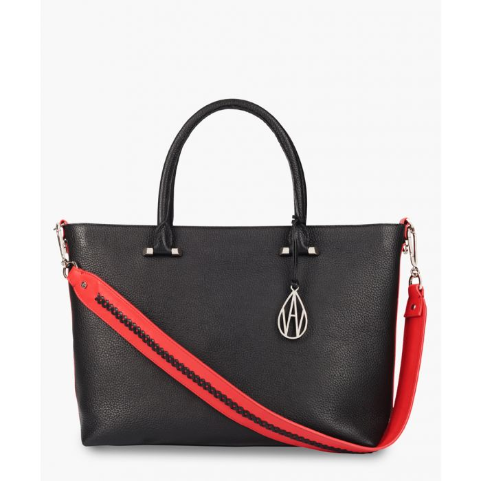 Image for Campbell black leather tote