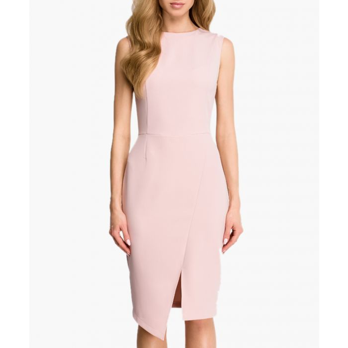 Image for Powder asymmetric hem fitted dress