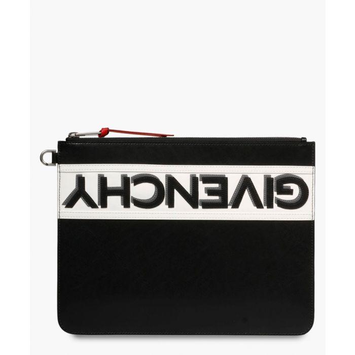 Image for Multi-coloured logo stripe pouch