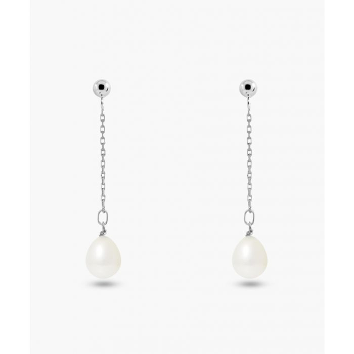 Image for Natural white cultured freshwater pearl earrings