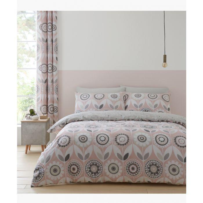 Image for Annika pink cotton blend double duvet set