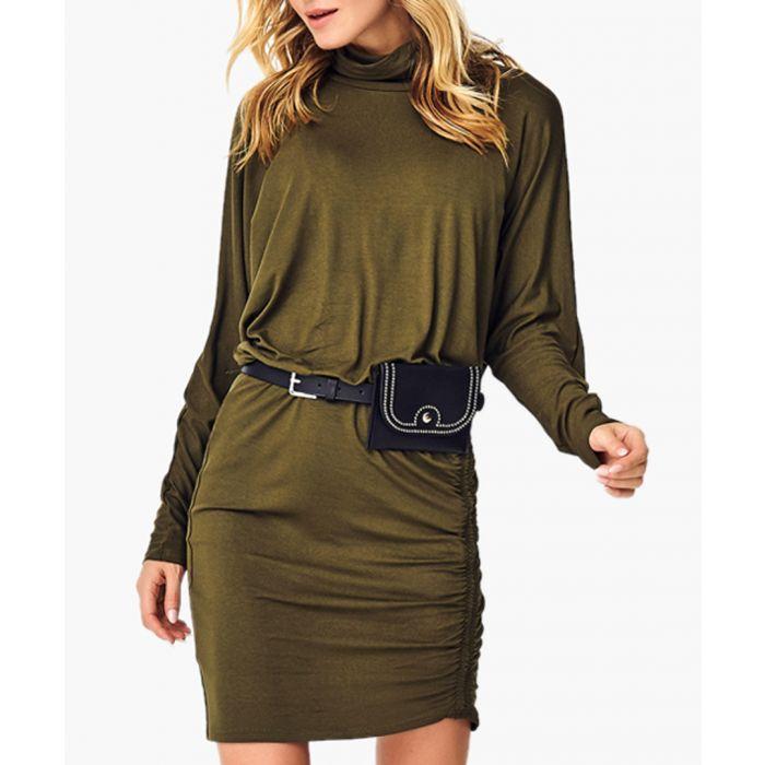 Image for Khaki cotton blend dress