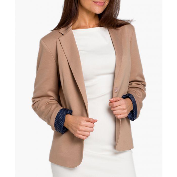 Image for Beige cotton blend jacket