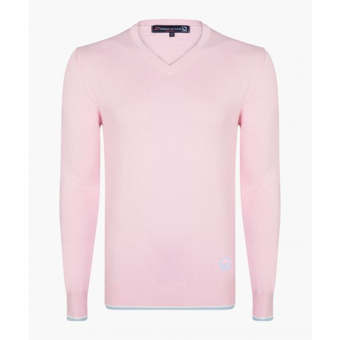 Image for Pink v-neck jumper