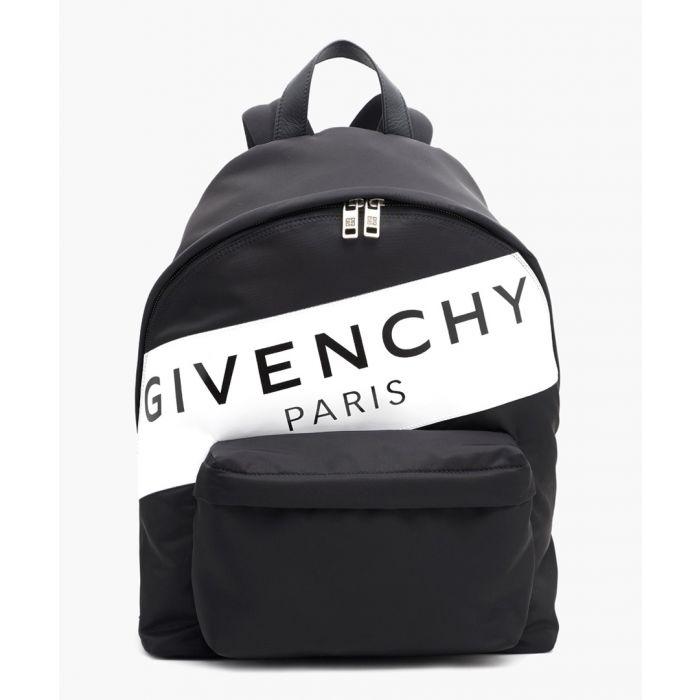 Image for Black logo stripe backpack