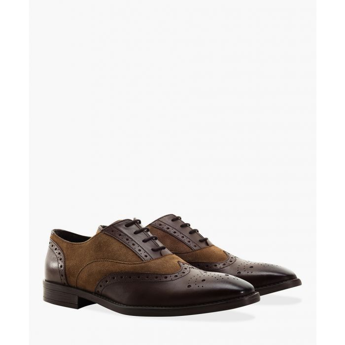 Image for Gatsby brown faux-leather shoes