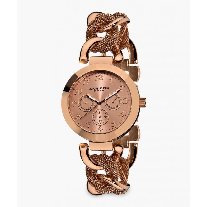 Image for Rose gold-tone  link bracelet watch