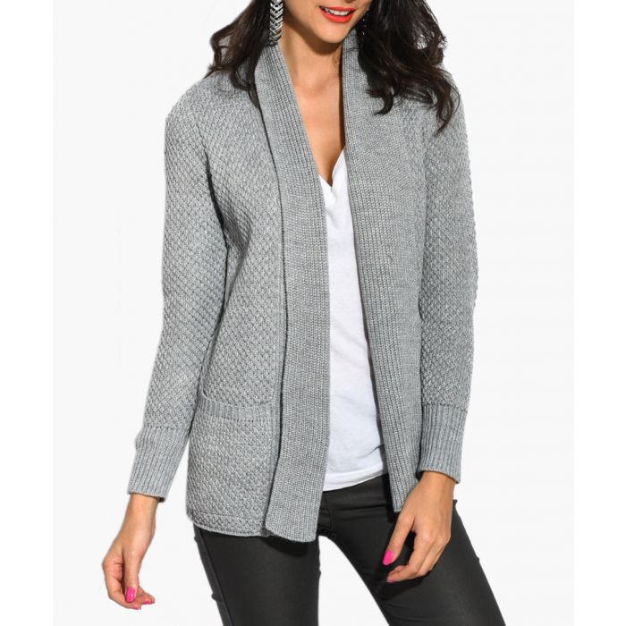 Image for Grey cashmere and mohair blend cardigan
