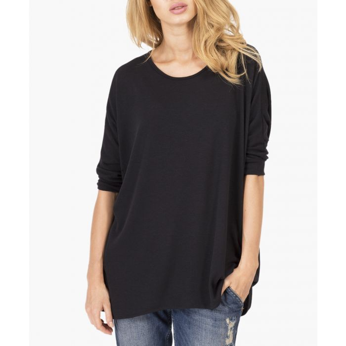 Image for Black knitted tunic sweater