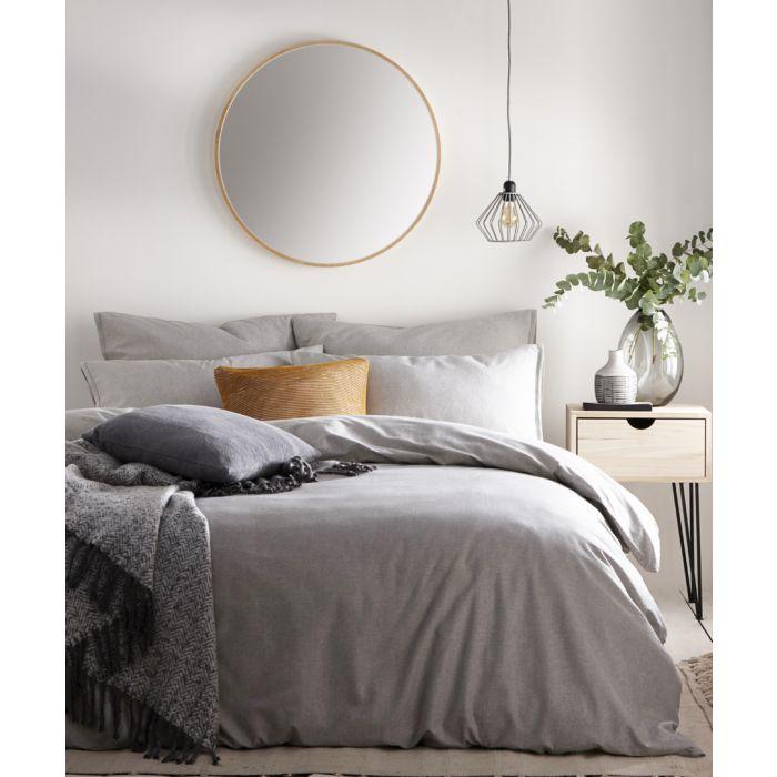 Image for Claybourne grey cotton single duvet cover set