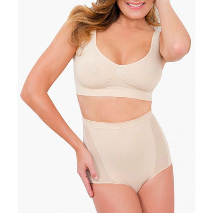 Image for Nude high-waisted shaping briefs