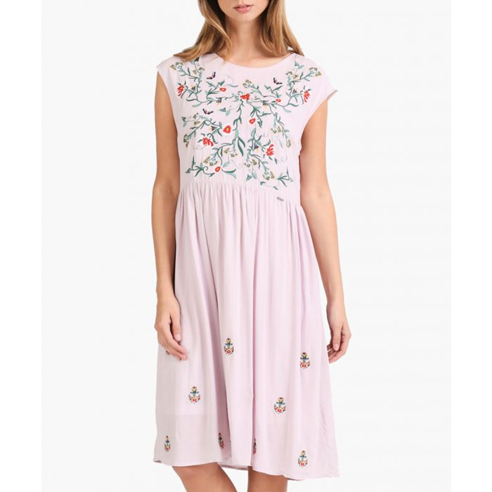 Image for Light lilac embroidered dress