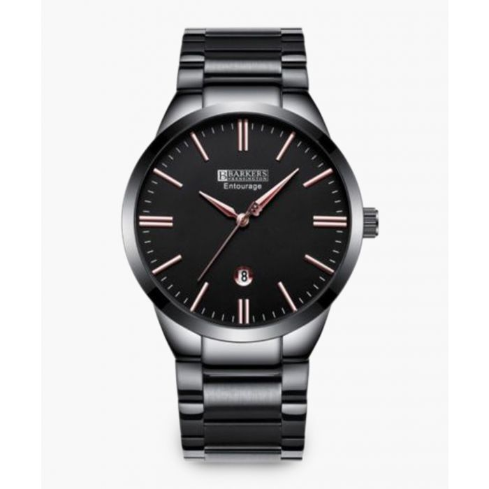 Image for Barkers Of Kensington Barkers of Kensington Entourage Rose Mens Watch Watches Silver & Rose