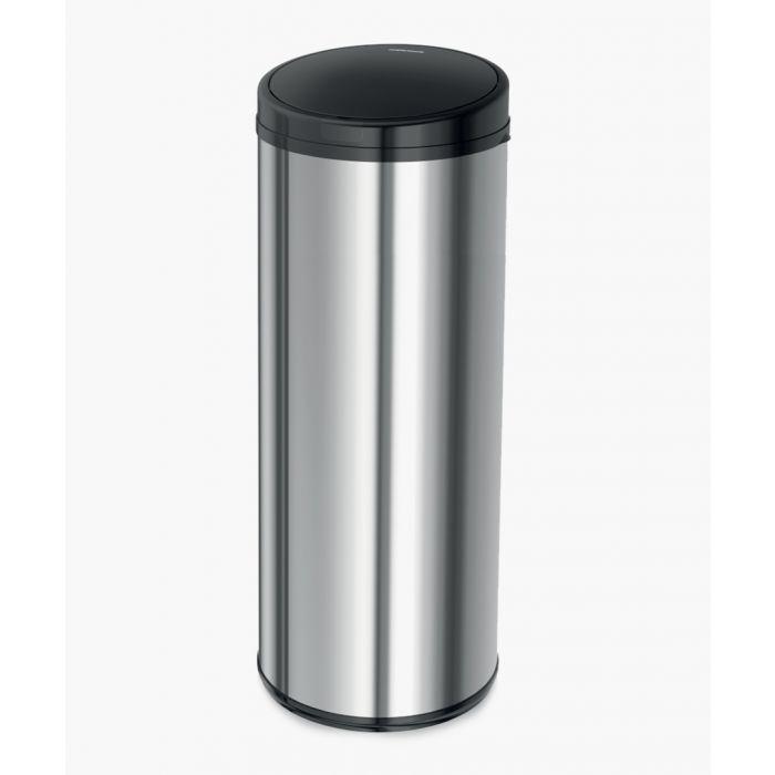 Image for Silver-tone steel sensor activated bin 50L
