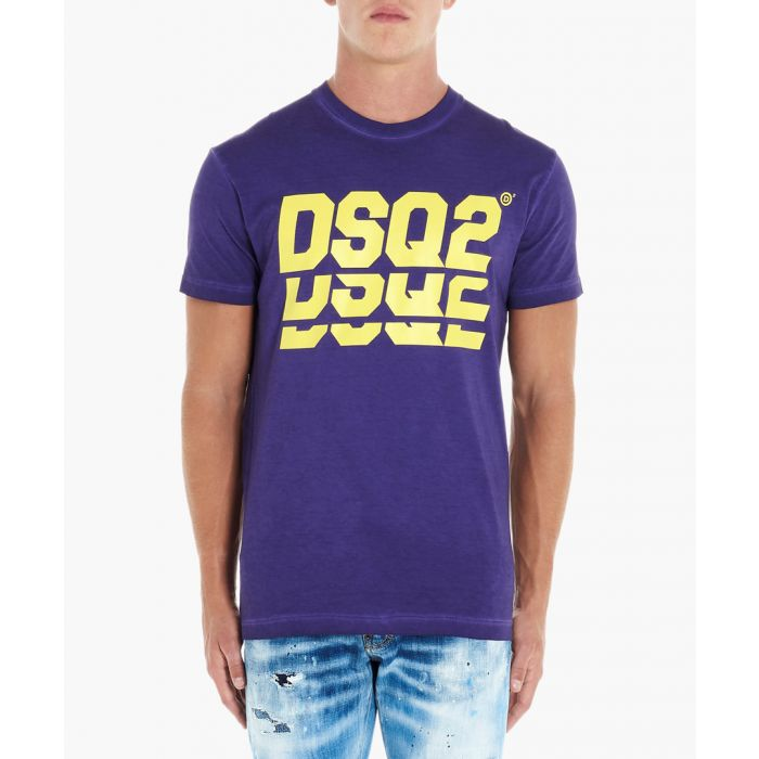 Image for Triple Dsq2 purple cotton T-shirt