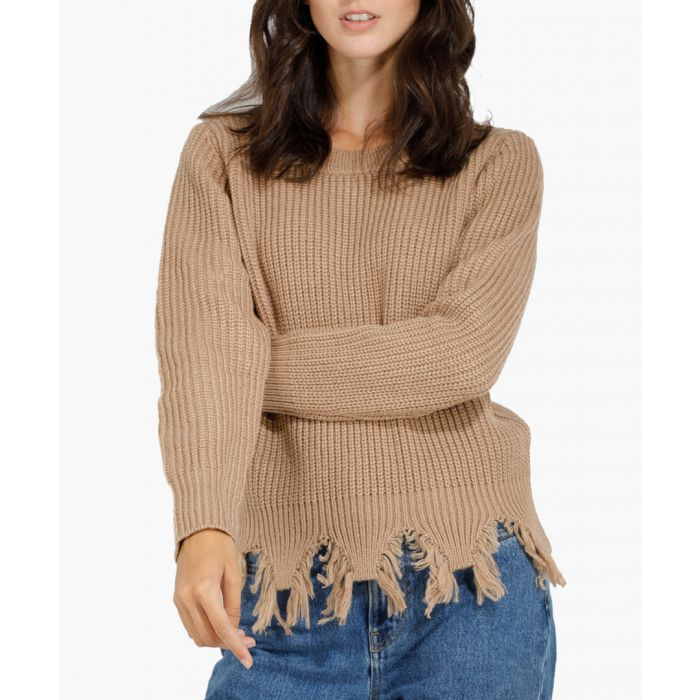 Image for Camel cashmere and mohair blend jumper