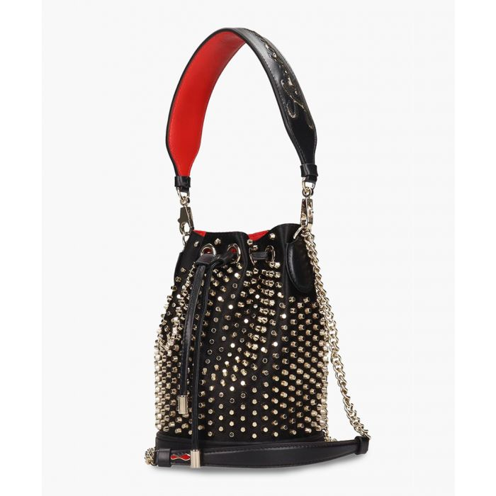Image for Marie Jane black leather bucket bag