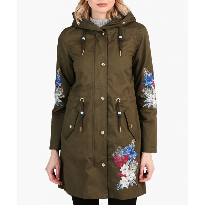 Image for Olive pure cotton lace-up jacket