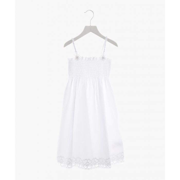 Image for White pure cotton dress