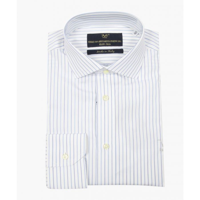 Image for Multi-coloured pure cotton classic collar shirt