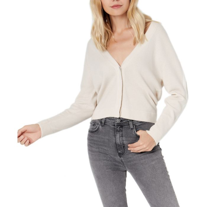 Image for Cream pure cashmere cardigan