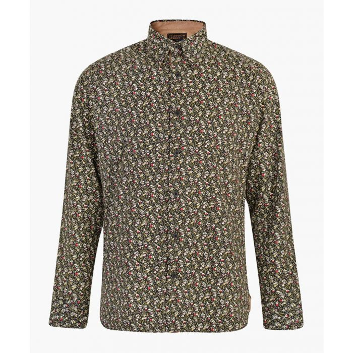 Image for Black pure cotton printed shirt