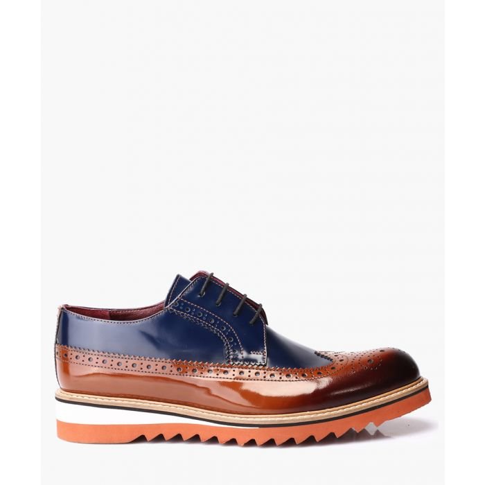Image for Multi-coloured leather brogue shoes