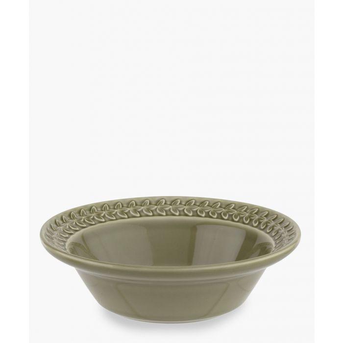Image for 4pc Botanic Garden Harmony moss green cereal bowl set