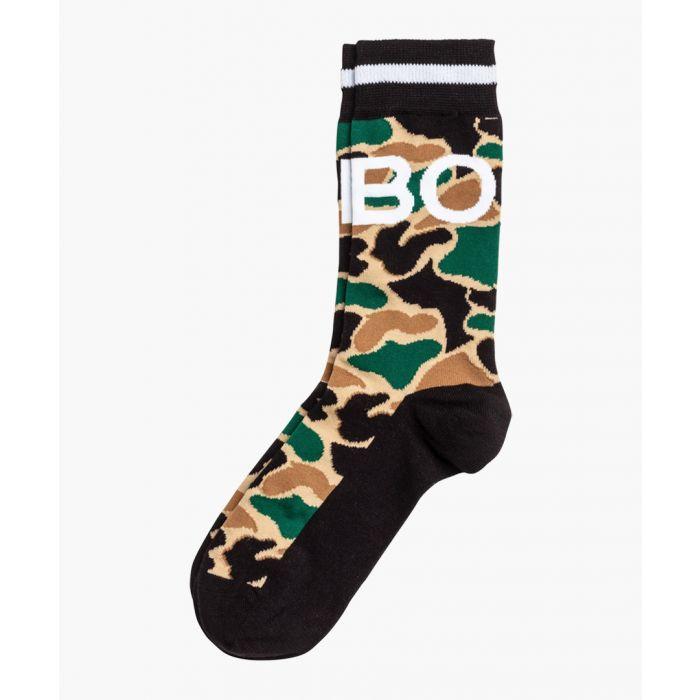 Image for Multi-coloured cotton blend giraffe printed socks