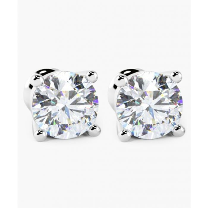 Image for 9k white gold and 0.33ct round diamond earrings
