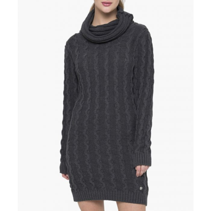 Image for Anthracite cotton dress