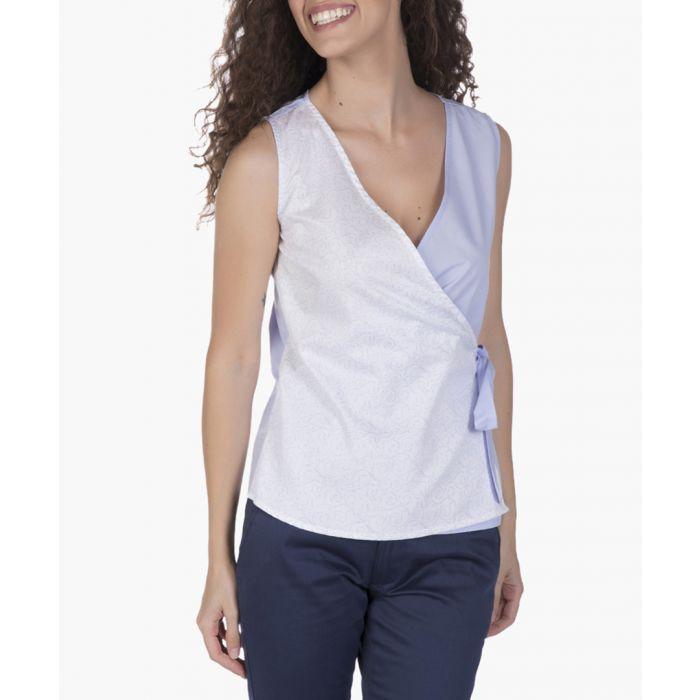 Image for Blue cotton blouse