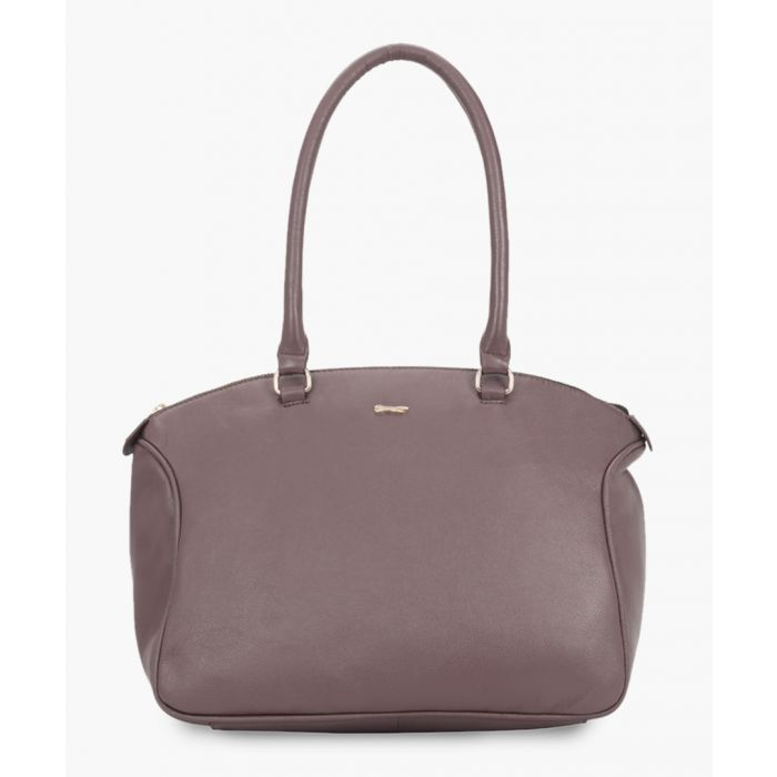 Image for Taorina purple leather shopper