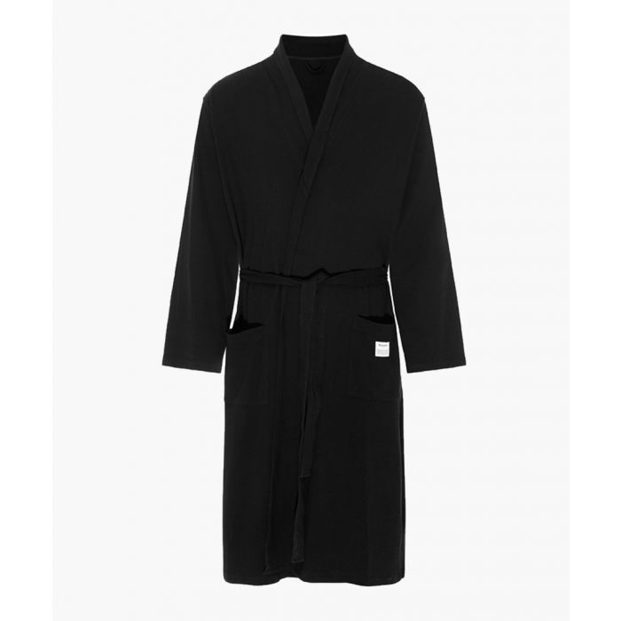 Image for Black cotton dressing gown
