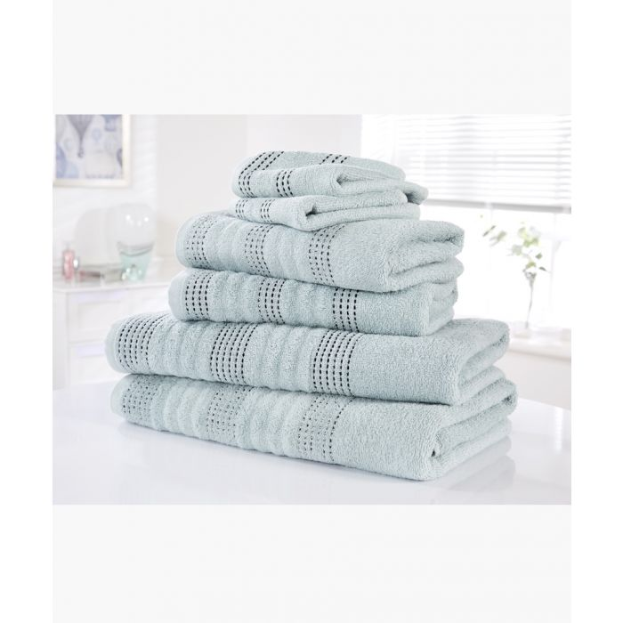 Image for 6pc Duck egg cotton towel bale set