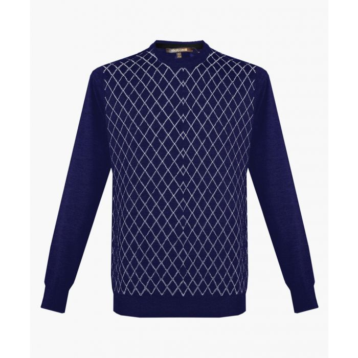 Image for Navy blue pure wool jumper