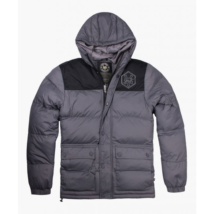 Image for Charcoal puffer jacket