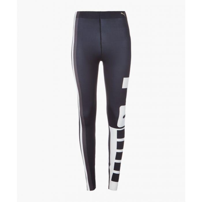 Image for Black and white varsity leggings