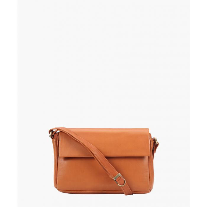 Image for Tan leather mini crossbody