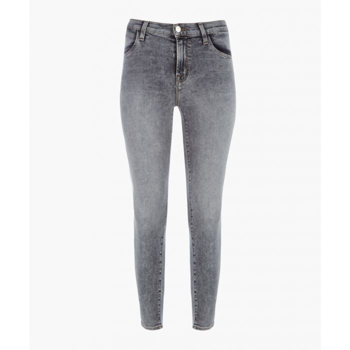 Image for Alana grey high-rise cropped super skinny jeans