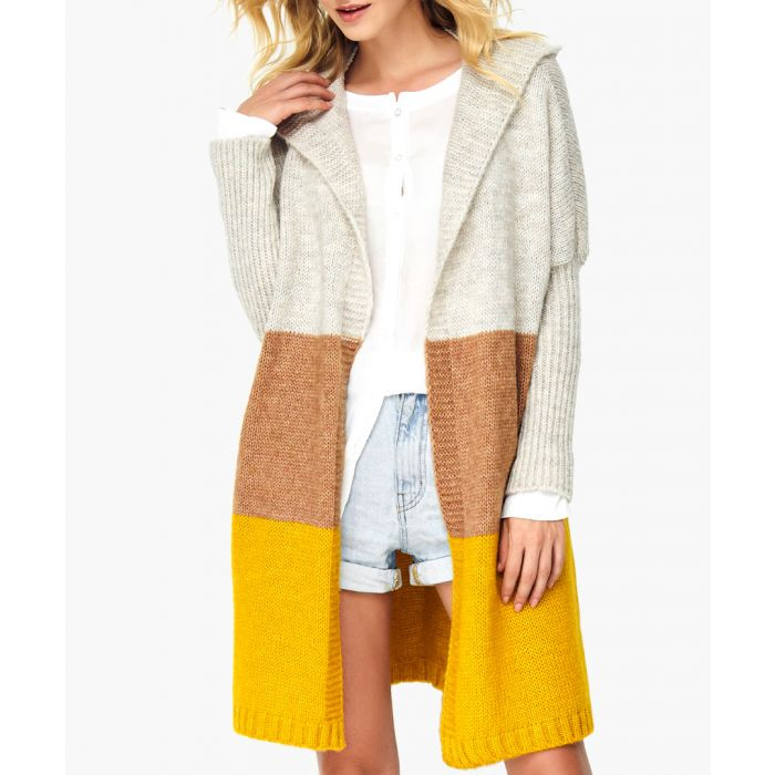 Image for Beige and mustard wool blend jumper