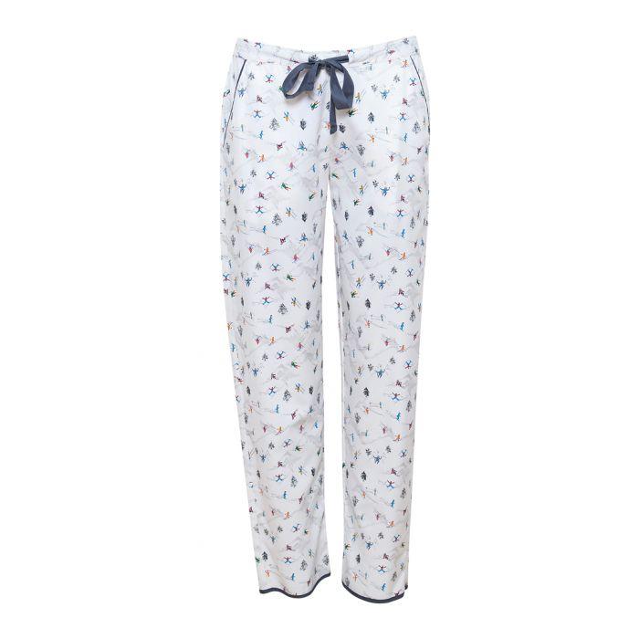 Image for Aspen white ski printed pyjama bottoms