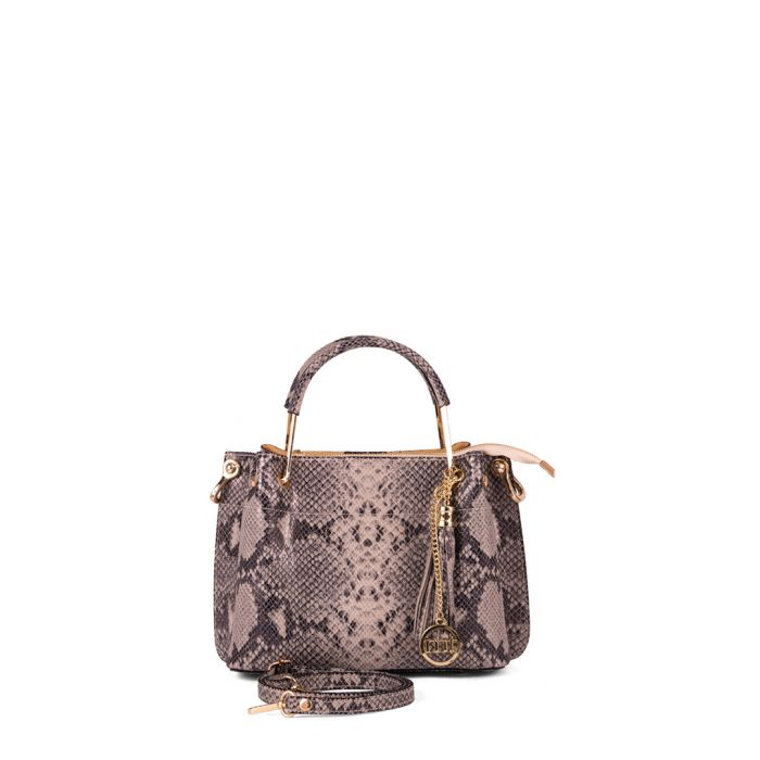 Image for Castello snake-effect leather shopper