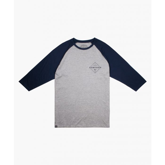 Image for Grey motif long sleeved contrast shirt